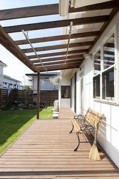 Pergola For Small Backyard Pergola With Roof, Covered Pergola, Pergola Patio, Backyard Landscaping, Outdoor Life, Outdoor Rooms, Outdoor Living, Outdoor Decor, Exterior Tiles