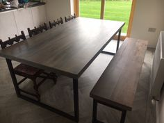 Industrial Style Special Grey Washed Dining Set  Www Enchanting Industrial Style Dining Room Tables Decorating Design
