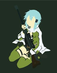 Sinon (シノン, Shinon?) is a skilled VRMMO game player in «Gun Gale Online» and «ALfheim Online». Her real name is Asada Shino (朝田 詩乃, Asada Shino?). She is one of the main characters of the Phantom Bullet Arc and the first female player that Kirito met in GGO. She plays GGO to overcome her trauma concerning guns.