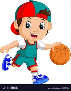 Young male basketball player vector image on VectorStock Blue Flower Wallpaper, Flashcards For Kids, Wall Painting Decor, School Murals, Doodle Coloring, Happy Art, Cute Cartoon Wallpapers, Kids Sports, Drawing For Kids