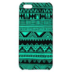 Vibrant abstract tribal design inspired by Aztec and African geometric decorative patterns and features stripes, triangles, squares, diamonds, zigzag and chevron patterns with a simple, turquoise and black color scheme. Original hand-drawn design - fun, stylish, trendy protection for your electronics and a perfect gift for Her.