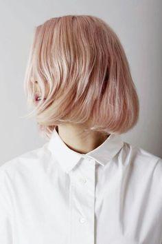 Short hair #shorthair #peach #hairstyles #haircolourstyles