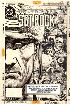 Original and final cover art by Joe Kubert from Sgt. Rock #395, published by DC Comics, December 1984.