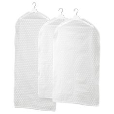 IKEA - PLURING, Clothes cover, set of transparent white, Protects your clothes from dust. Sizes: 2 pc and 1 pc Hanging Clothes Organizer, Hanging Storage, Small Storage, Diy Storage, Storage Ideas, Ikea Variera, Ikea Skubb, Organisation Ikea, Armoire Pax