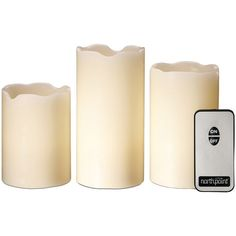 North Point GM8236 3-Piece LED Flicker Candle Set