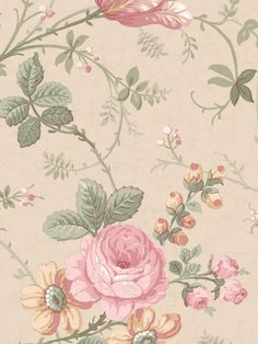 Lovely pink rose pattern fit for a peaceful country abode. From the book Remington Rose Linden Street Gallery  AmericanBlinds.com