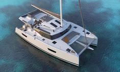 Definitely modern, luminous and spacious, this new cruising catamaran strengthens the Fountaine Pajot Sailing Catamarans fleet. Catamaran For Sale, Catamaran Charter, Sailing Catamaran, Buy A Boat, Love Boat, Catamaran Design, New Boats For Sale, Yacht Vacations, Yacht World
