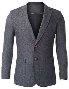 FLATSEVEN Men's Herringbone Tweed Sport Coat Wool Blazer Jacket with Elbow Patches (BJ426) Grey, Boys M FLATSEVEN http://www.amazon.com/dp/B00OXV0ZDE/ref=cm_sw_r_pi_dp_S2B0ub0YKAWXS #Men #fashion #FLATSEVEN #sport coat #blazer #Wool Blazer #mens #fashion