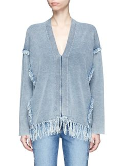 CHLOÉ Fringed V-Neck Sweater. #chloé #cloth #sweater