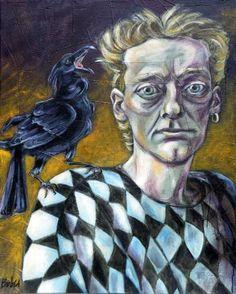 "Saatchi Art Artist Clara de Bobes; Painting, ""Roland and Barthes"" #art Saatchi Art, Original Paintings, Fantasy, Fine Art, Artist, Artwork, Animals, Paintings, Human Figures"