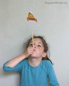 launching homemade straw rockets