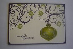 what a great idea! ---- SU Baroque Motifs, ornament created by sponging through a template created using the Ornament punch