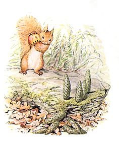 I've always been partial to naughty animals, Squirrel Nutkin by Beatrix Potter
