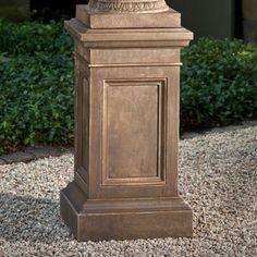 Campania International Coachhouse Cast Stone Pedestal For Urns and Statues Ferro Rustico - PD-191-FR