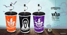 Vaso cloxe negro Productos Promocionales Halloween. Proimpo