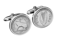Ireland threepence CufflinksGenuine Coins WB by worldcoincufflinks, $69.00