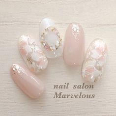 Cute Nail Art, Cute Nails, Pretty Nails, Korean Nail Art, Korean Nails, Japanese Nail Design, Japanese Nail Art, Nail Art Designs Videos, Red Nail Designs