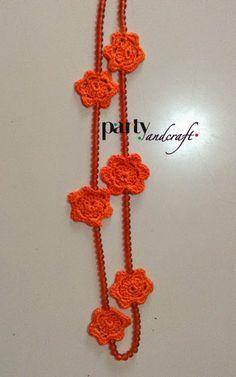 crochet necklace, with sea glass beads @Valeria Buccheri