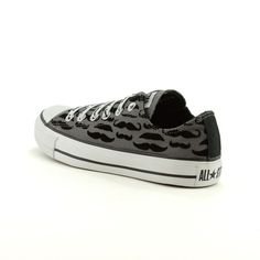 Converse All Star Lo Mustache Athletic Shoe - I WILL own these shoes! :)