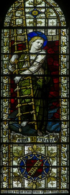 St Perpetua, Stained glass window, Christ church, St Leonards, Hastings