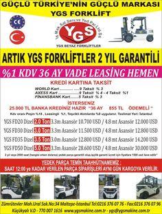 %1 KDV 36 AY VADE 2 YIL GARANTİLİ YGS FORKLİFTLER(2-3-3.5-5 TON) - Forklift İlanları sahibinden.com'da - 212568955