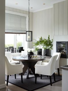 Love these chairs! Dining Room Inspiration, Interior Inspiration, Dining Room Design, Dining Area, Decor Interior Design, Interior Styling, Küchen Design, House Design, Home And Living