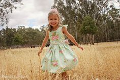 Bow Peep PDF sewing pattern Girls Party Dress ( excerpt from One Thimble Sewing e-zine )