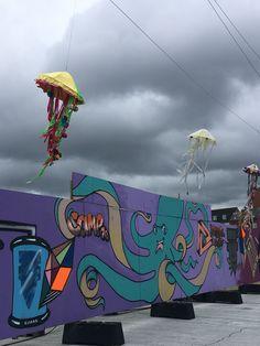 Havnepladsen er omdannet til festplads ifm havnekulturfestivalen 🐙