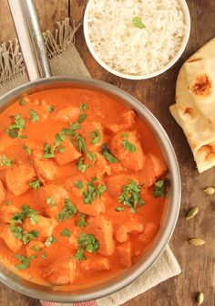 This Easy Butter Chicken recipe is fragrant and quick enough for a weeknight meal. Be sure to have lots of nann bread handy to scoop all that great sauce.