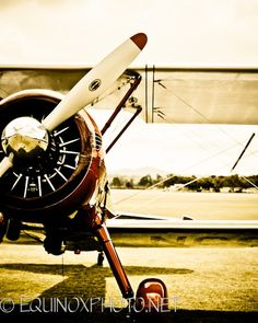 BW Photograph Of A DC 3 Radial Engine