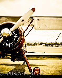 1930 vintage airplane 11x14 metallic fine art photograph. $48.00, via Etsy.