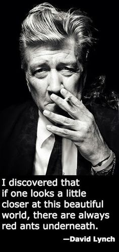 That cool quote by David Lynch, from the Battlestar Eclectica blog.