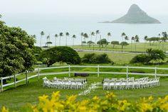 Sunny Whimsical Wedding in Hawaii  on Borrowed & Blue.  Photo Credit: Rachel…