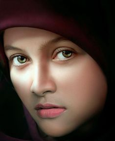 Yoanythings Realistic portrait Awesome Eyes t Most Beautiful Faces, Beautiful Hijab, Beautiful Children, Beautiful Eyes, Beautiful Women, Pretty Eyes, Cool Eyes, Girl Face, Woman Face