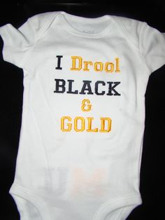 Not a Steelers fan, but my dad would love this!! He'll be dressing my future babies in steelers just like he did my Riley. Lol.
