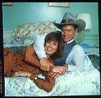 LARRY HAGMAN LINDA GREY DALLAS STARS IN BED TOGETHER ORIG COLOR TRANSPARENCY