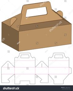 Find Box Packaging Die Cut Template Design stock images in HD and millions of other royalty-free stock photos, illustrations and vectors in the Shutterstock collection. Cake Boxes Packaging, Food Packaging Design, Soap Packaging, Paper Box Template, Origami Templates, Cupcake Template, Box Templates, Diy Gift Box, Diy Box