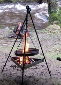 Wrought iron work, metalworking & blacksmith - Camping Grills
