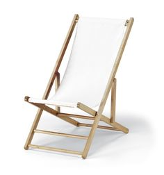 White Cabana Beach Chair And Sling