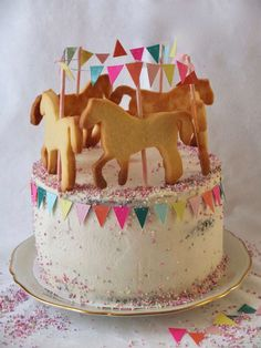 Carousel cake with horse- Karussell Torte mit Pferdchen Carousel cake with horses Mascarpone Filling Recipe, Carousel Cake, Poppy Seed Cake, Horse Birthday, Apple Smoothies, First Birthday Cakes, Birthday Cake For Kids, Cake Kids, Cake Toppings