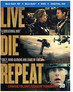 nice Live Die Repeat: Edge of Tomorrow (Blu-ray 3D + Blu-ray + DVD +UltraViolet  Combo Pack)  #Bluray #Combo #Edge #Live #Pack #Repeat #Tomorrow #UltraViolet
