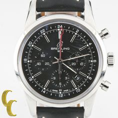 Breitling Men's Steel Transocean Chronograph GMT Automatic Watch LE of 2000 #Breitling