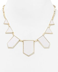 """House of Harlow 1960 Leather Station Necklace, 18"""""""