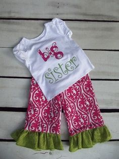 I /'m the little sister Embroidered Baby Vest Poison Personalised