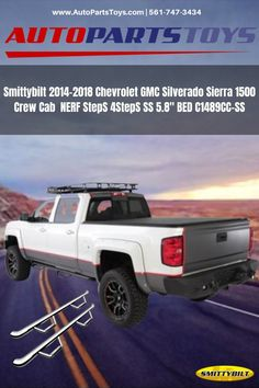 S SIZVER Ultra Finish Glossy-Black Series Combo Mirror+Handle+Tailgate Compatible with 2014-2019 Chevrolet Silverado+GMC Siera 1500+2500+3500 with Backup Camera Hole
