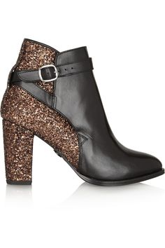 Markus Lupfer | Glitter-finish leather ankle boots | NET-A-PORTER.COM