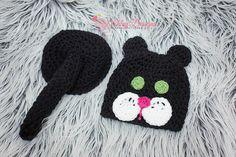Kitty Baby Tushy Cover Set Crochet Pattern  by AshleyDesignsCorner, $3.95