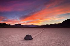 """""""Separated"""" - photo by Joe Azure, via 500px;  Racetrack Playa in Death Valley National Park"""