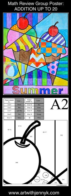 Large Group Art Projects Hallways Ideas For 2019 End Of School Year, Summer School, Art School, Summer Activities For Kids, Art Activities, Answers To Math Problems, Group Art Projects, Groups Poster, Summer Poster