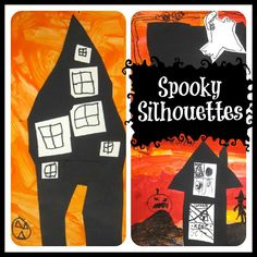 Art is Basic-- Art Teacher Blog: Spooky Silhouettes-- Kindergarten